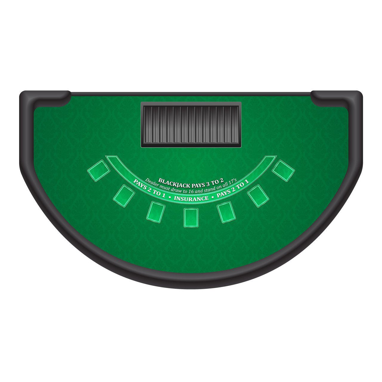 Blackjack table top view - Classic Blackjack Layout Green Casino Supply
