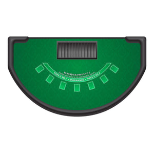 Classic Blackjack Layout - GREEN - Casino Supply