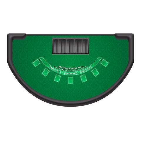 Classic Blackjack Layout   GREEN   Casino Supply