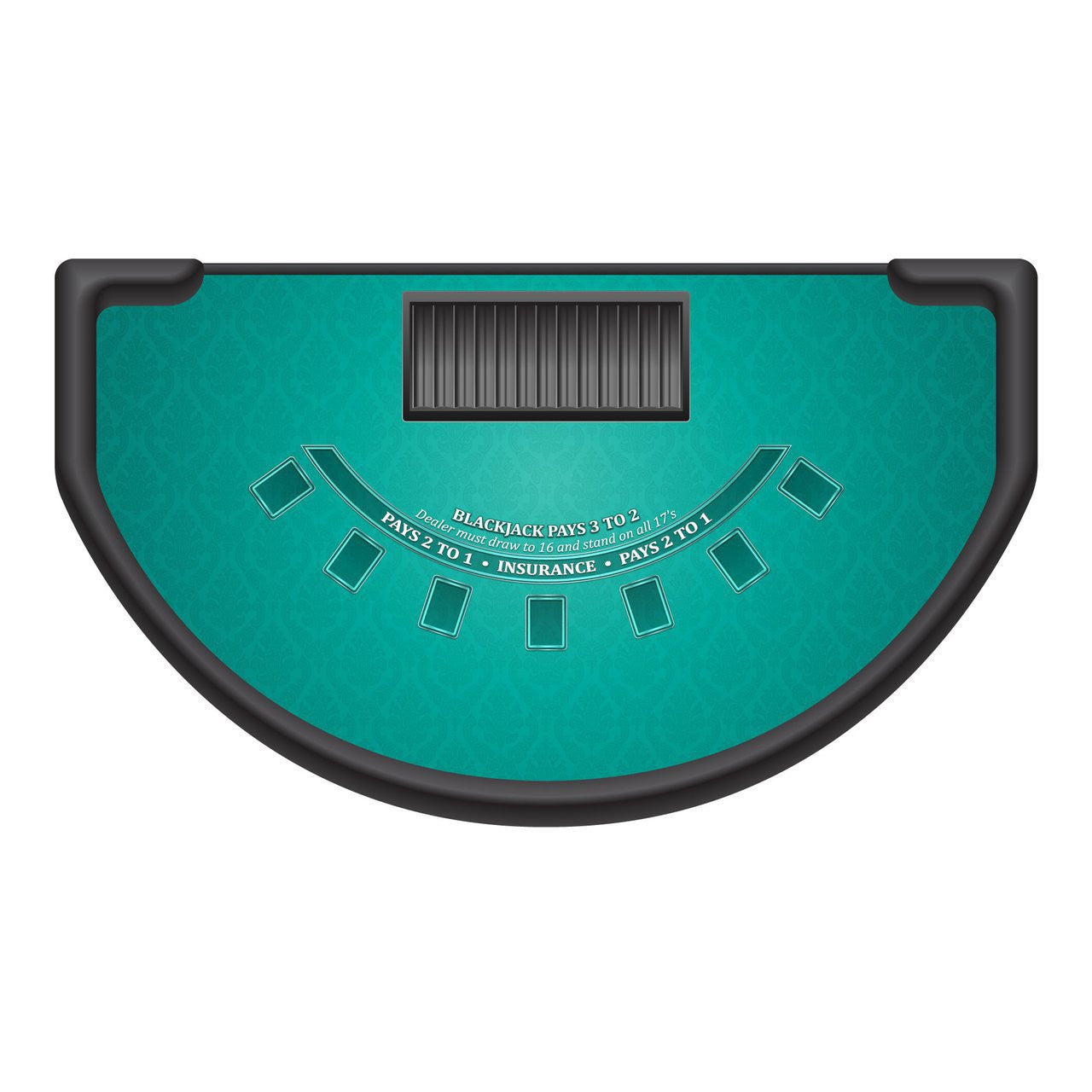 Classic Blackjack Layout - TEAL - Casino Supply