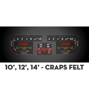 Classic Craps Layout - BLACK - Casino Supply - 4