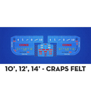Classic Craps Layout - DARK BLUE - Casino Supply - 4