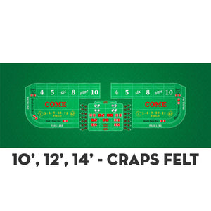 Classic Craps Layout - GREEN - Casino Supply - 4