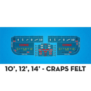 Classic Craps Layout - LIGHT BLUE - Casino Supply - 4
