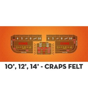 Classic Craps Layout - ORANGE - Casino Supply - 4