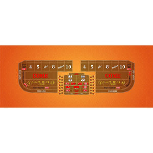 Classic Craps Layout - ORANGE - Casino Supply - 1
