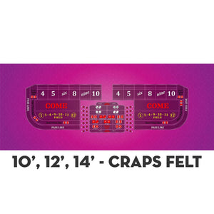 Classic Craps Layout - PINK - Casino Supply - 4