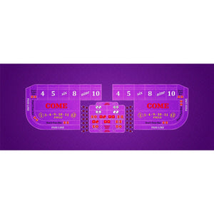 Classic Craps Layout - PURPLE - Casino Supply - 1