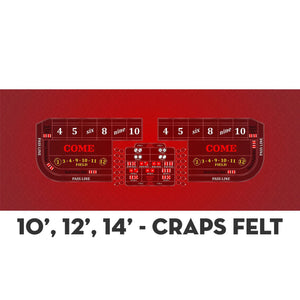 Classic Craps Layout - RED - Casino Supply - 4