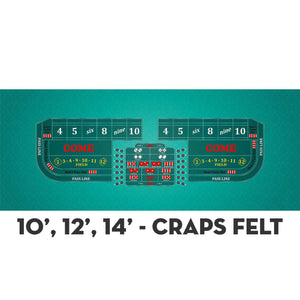 Classic Craps Layout - TEAL - Casino Supply - 4