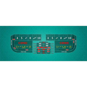 Classic Craps Layout - TEAL - Casino Supply - 1