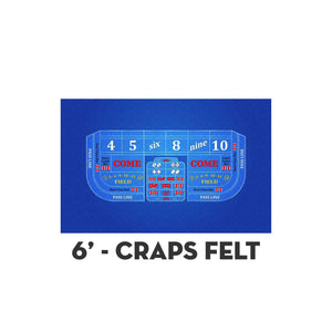 Classic Craps Layout - DARK BLUE - Casino Supply - 2