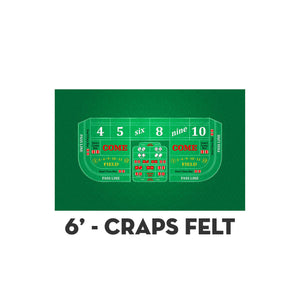 Classic Craps Layout - GREEN - Casino Supply - 2