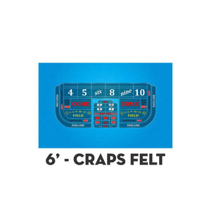 Classic Craps Layout - LIGHT BLUE - Casino Supply - 2
