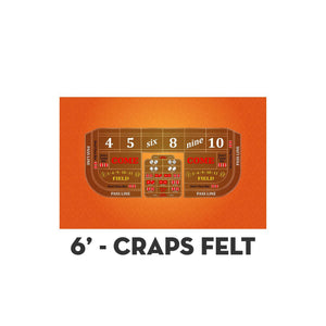 Classic Craps Layout - ORANGE - Casino Supply - 2