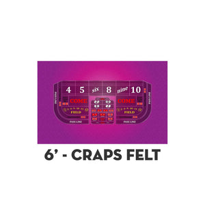 Classic Craps Layout - PINK - Casino Supply - 2