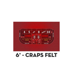 Classic Craps Layout - RED - Casino Supply - 2
