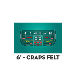 Classic Craps Layout - TEAL - Casino Supply - 2