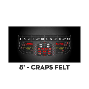 Classic Craps Layout - BLACK - Casino Supply - 3