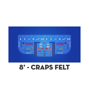 Classic Craps Layout - DARK BLUE - Casino Supply - 3