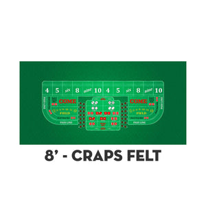 Classic Craps Layout - GREEN - Casino Supply - 3