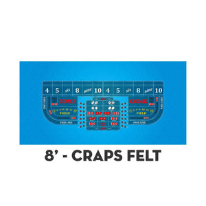 Classic Craps Layout - LIGHT BLUE - Casino Supply - 3