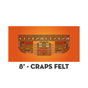 Classic Craps Layout - ORANGE - Casino Supply - 3