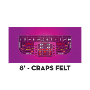 Classic Craps Layout - PINK - Casino Supply - 3
