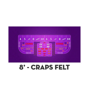 Classic Craps Layout - PURPLE - Casino Supply - 3