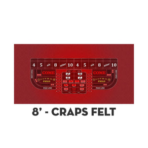 Classic Craps Layout - RED - Casino Supply - 3