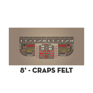 Classic Craps Layout - TAN - Casino Supply - 3