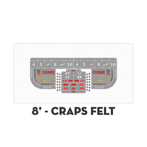 Classic Craps Layout - WHITE - Casino Supply - 3