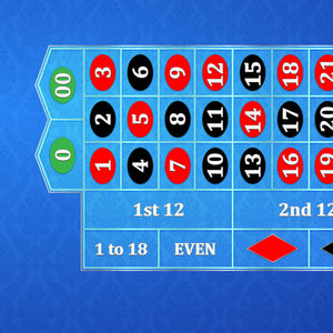 Classic Roulette Layout - DARK BLUE - Casino Supply - 1