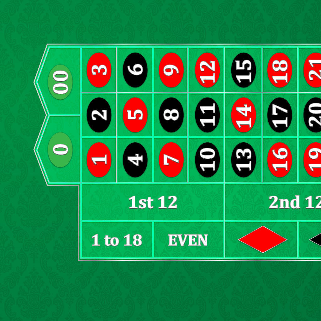 Classic Roulette Layout - GREEN - Casino Supply - 1