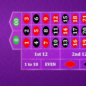 Classic Roulette Layout - PURPLE - Casino Supply - 1