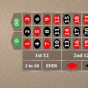 Classic Roulette Layout - TAN - Casino Supply - 1