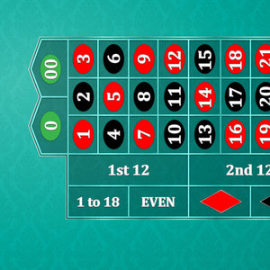 Classic Roulette Layout - TEAL - Casino Supply - 1