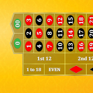 Classic Roulette Layout - YELLOW - Casino Supply - 1