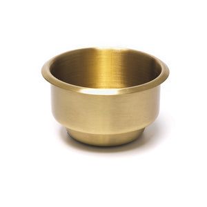 Drop In Drink Holder - Brass Dual Size