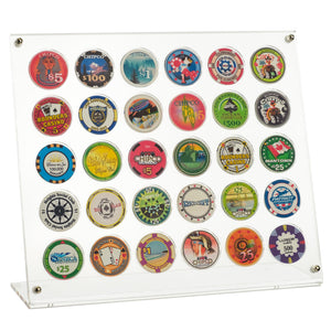 30 Poker Chip Museum Quality Acrylic Display Stand
