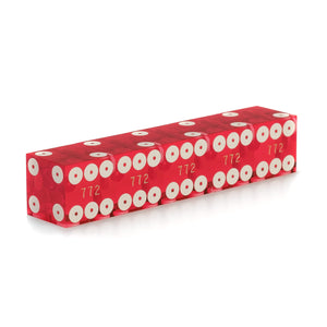 New Casino Dice Single Ring 3/4 Inch Serialized - Set of 5
