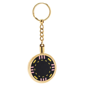 Gold Plated Poker Chip Key Ring Holder