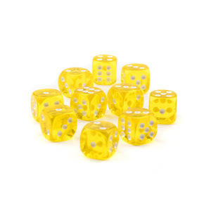 Economy Transparent Dice - 16mm - 10 Pack - Choose Colors