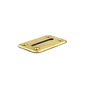 Money Chip Drop Slot Frame - Brass