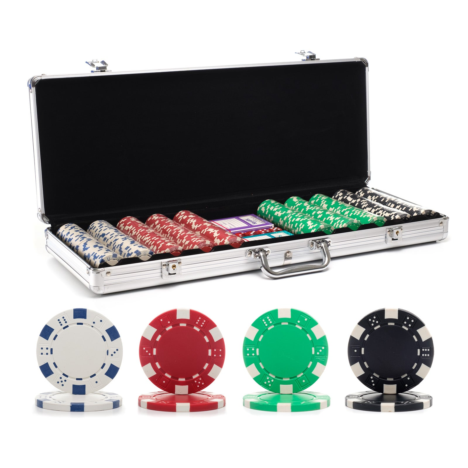 11.5g Dice Rim Poker Chip Set with Aluminum Case  sc 1 st  Casino Supply : poker set table - Pezcame.Com