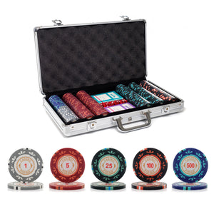 300 pc. 14g Casino Royale Poker Chip Set with Aluminum Case