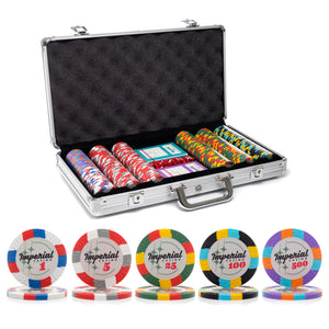300 pc. 14g Imperial Poker Chip Set with Aluminum Case