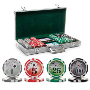 300 pc. 13g Yin Yang Poker Chip Set with Aluminum Case