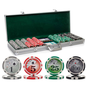 500 pc. 13g Yin Yang Poker Chip Set with Aluminum Case