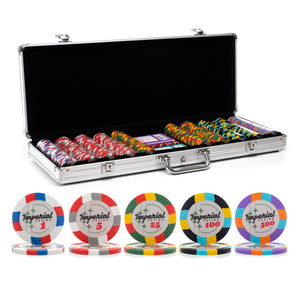 500 pc. 14g Imperial Poker Chip Set with Aluminum Case